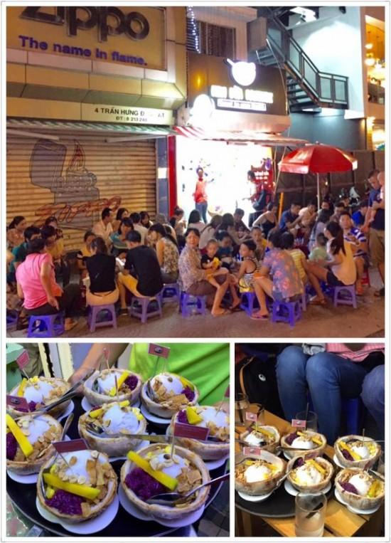 Kem xôi dừa Bangkok.