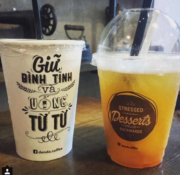 Trà đào ở Đen Đá Coffee (Ảnh: Facebook Đen Đá Coffee)