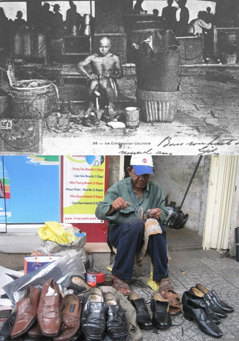 Nghề sửa giày bắt đầu xuất hiện vào đầu thế kỷ 20, cho đến nay đã trở thành một trong những nghề thủ công lâu đời nhất tại Sài Gòn. Sửa giày được xem là một nghề khá nhàn nhã, thu nhập không cao nhưng ổn định, bất cứ khi nào cũng có việc để làm. Ngày nay, nghề sửa giày ít nhiều đã bị mai một, nhưng vẫn có thể bắt gặp những người thợ già đang miệt mài đóng giày trên hè phố, nhất là ở các đường Lê Thánh Tôn, Hai Bà Trưng (quận 1)...