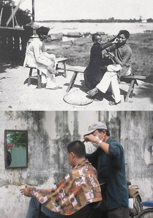 Từ những năm 1910-1930, nam giới đã không còn búi tóc củ hành mà bắt đầu cắt tóc ngắn. Theo đó, nghề hớt tóc dạo đường phố ra đời. Đến nay, các tiệm cắt tóc, salon tóc đã chuyên nghiệp hơn, tích hợp nhiều dịch vụ tiện ích, nhưng thỉnh thoảng đâu đó trên vỉa hè đường phố Sài Gòn, dưới những bóng cây mát vẫn còn những người thợ cắt tóc bình dị, với những dụng cụ hành nghề rất đơn giản, nhỏ gọn.