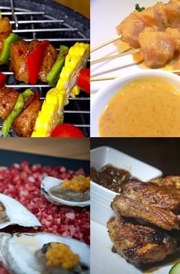 Để có một bữa nướng no nê, bạn có thể dùng khai vị bằng món salad bò cay, sau đó đến các món nướng và lẩu để chắc bụng.