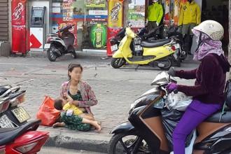 Theo Sở LĐTB và XH, phần lớn người xin ăn là người dân từ các tỉnh, thành phố khác (người dân TP chiếm tỉ lệ khoảng 14%) - Ảnh: T.T