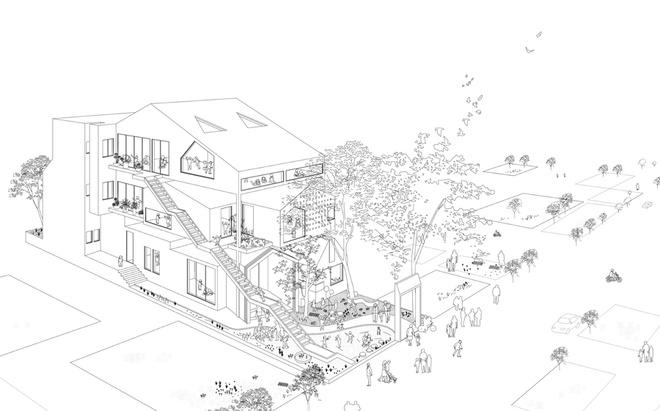 Hình ảnh tổng thể ngôi nhà.