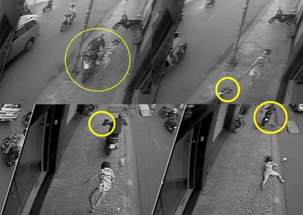 Một vụ cướp táo tợn trên đường Trần Hưng Đạo, Q.5, TP.HCM