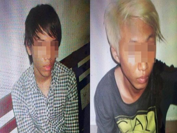 2 thiếu niên cầm đầu băng nhóm tấn công, chém du khách người Đức cướp tài sản. Ảnh: C.Tâm.