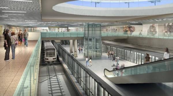 Phối cảnh trung tâm thương mại và nhà ga metro Bến Thành ngầm dưới lòng đất giữa trung tâm TP HCM - Ảnh: BQLDA
