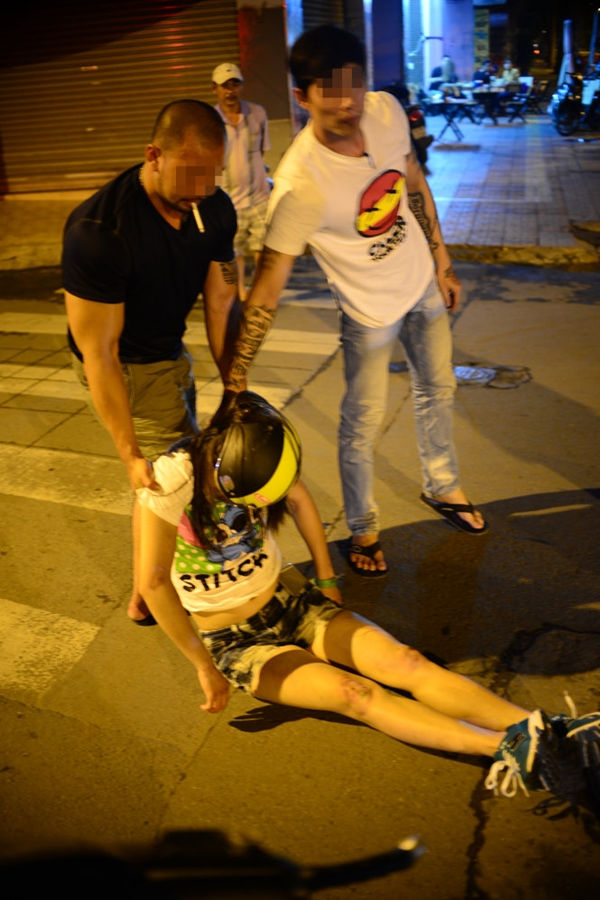 Một bạn trẻ bị tai nạn giao thông do uống rượu bia - Ảnh: T.T.D.