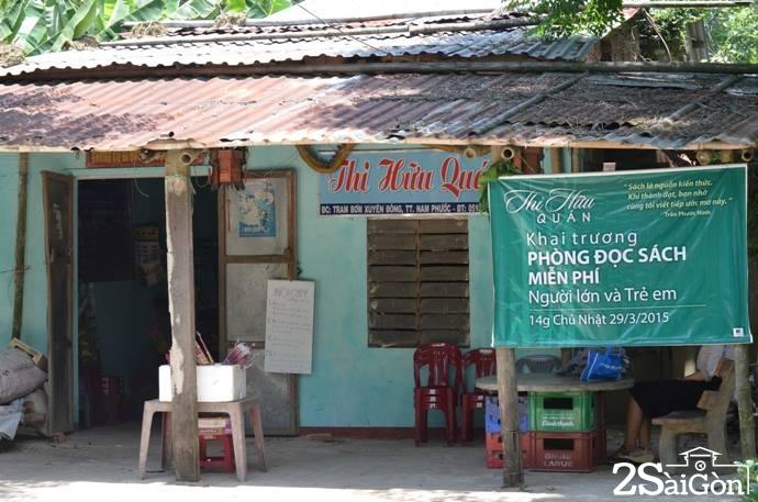 Căn nhà nhỏ trở thành thư viện mini cho trẻ trong làng