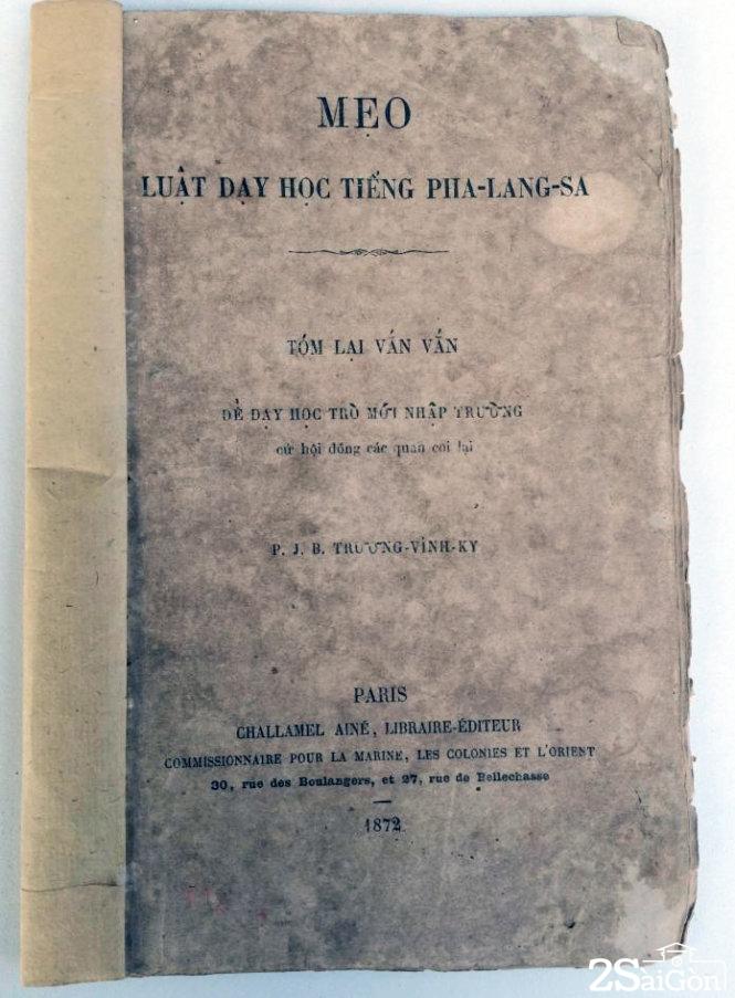 Trương Vĩnh Ký thông thạo nhiều ngôn ngữ và đã biên soạn cũng như xuất bản nhiều đầu sách ngôn ngữ