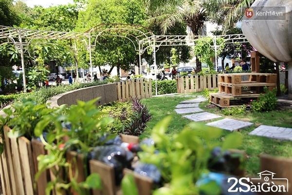 Vốn kinh phí để biến bãi rác thành một công viên xanh ngập nắng thế này mất hơn 4 triệu đồng.