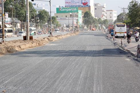 Công trình nâng đường tại đường Kinh Dương Vương