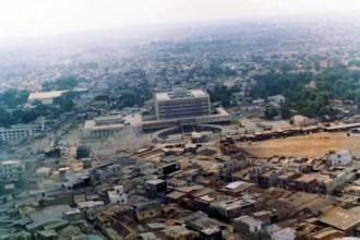 Khu dân cư và bệnh viện Vì Dân lúc đã xây xong quanh khu ngã tư Bảy Hiền.  Ảnh: Tư liệu