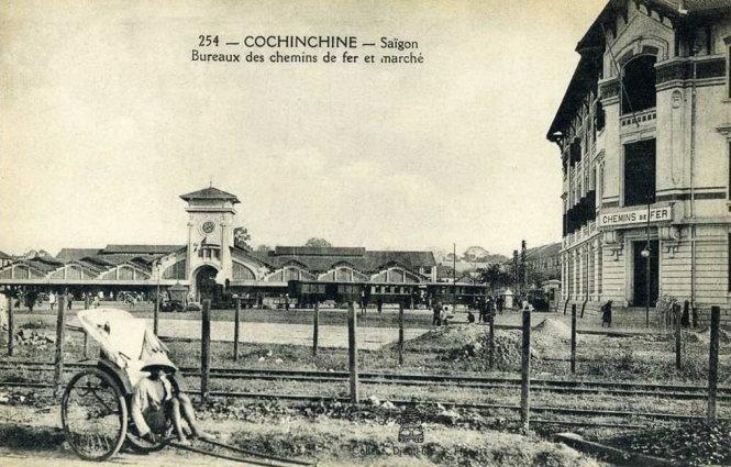 Khu vực chợ Bến Thành thời kỳ kinh tế Sài Gòn thời thuộc Pháp đạt đỉnh, năm 1938. Ảnh tư liệu