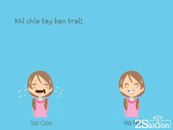 Trai và gái Sài Gòn và Hà Nội yêu và chia tay cũng khác