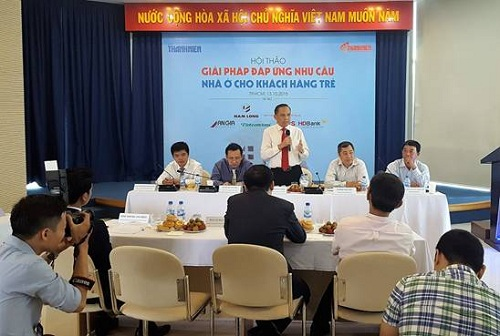 Ông Lê Hoàng Châu - Chủ tịch Horea: Người trẻ cần có quyết tâm và ý chí tạo lập nhà cùng kế hoạch thực hiện việc mua nhà.