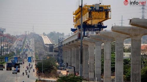 Tuyến metro số 1 Bến Thành - Suối Tiên đang được gấp rút xây dựng