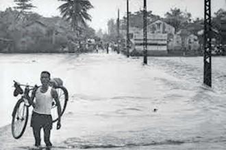 Hình ảnh trận lũ lụt lịch sử năm 1971