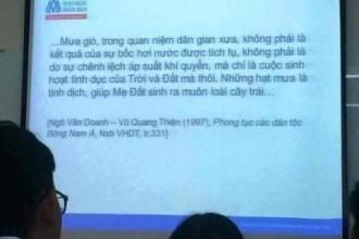 Nội dung bài giảng gây xôn xao dư luận mạng xã hội