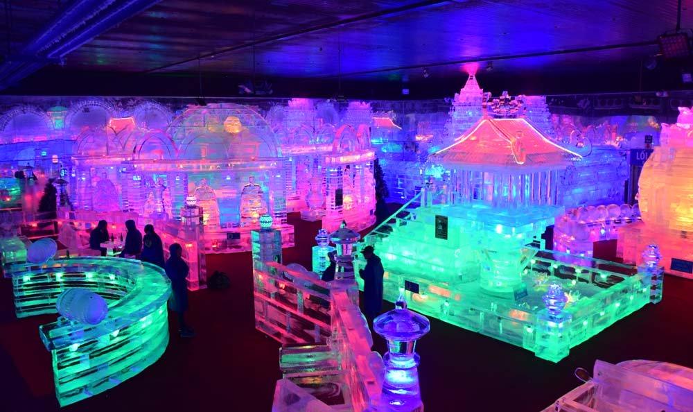 Để phục vụ khách đến tham quan, triển lãm băng đang diễn ra tại Công viên văn hóa Đầm Sen và kéo dài đến hết 9/2017.