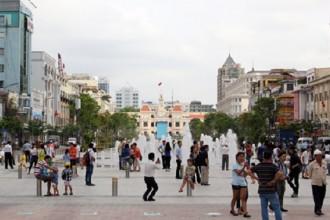 Giá đất mặt tiền phố đi bộ Nguyễn Huệ cao nhất 1,2 tỷ đồng mỗi m2 cập nhật đến cuối tháng 10/2016. Ảnh: Duy Trần