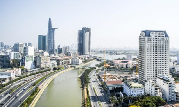 Những dự án nằm gần hoặc đối diện phố Wall Sài Gòn đang có giá bán thuộc hàng cao nhất nhì thị trường TP HCM hiện nay. Ảnh: Vũ Lê