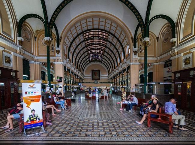 Sự kết hợp độc đáo của kiến trúc Âu – Á tại Bưu điện trung tâm Sài Gòn