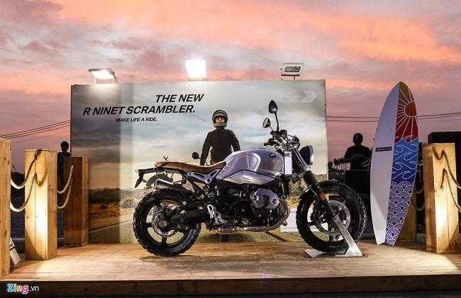 BMW Motorad trưng bày chiếc R Nine T Scrambler giá 568 triệu đồng.
