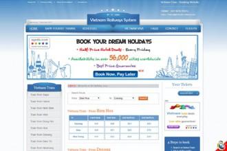 Giao diện trang web bán vé tàu Tết rất giống website của ngành đường sắt.