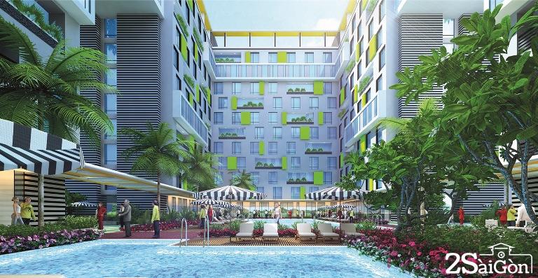 Toà tháp A nằm trên mặt tiền đường Cộng Hoà là khách sạn quốc tế Holiday Inn & Suites Saigon Airport với 350 phòng theo tiêu chuẩn 5 sao sẽ được vận hành bởi Tập đoàn quản lý hàng đầu thế giới là InterContinental Hotels Group (IHG).
