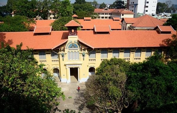 Hình ảnh uy nghi của ngôi trường được chụp từ trên cao