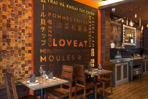 Không gian LovEat là một địa điểm ăn uống lãng mạn ở Sài Gòn