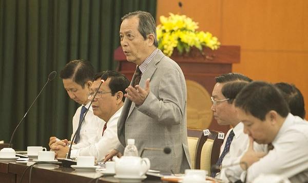 GS.TS Đặng Lương Mô phát biểu tại buổi gặp mặt