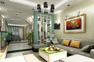 Phòng khách hiện đại, bài trí đẹp mắt. (Ảnh minh họa)