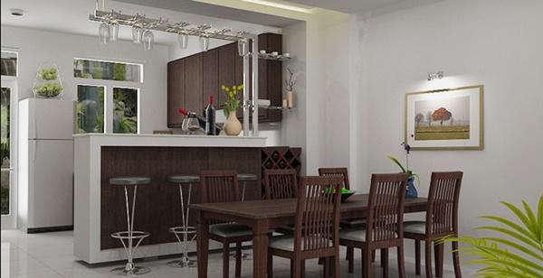 Phòng bếp và bàn ăn gọn gàng, gần gũi. (Ảnh minh họa)