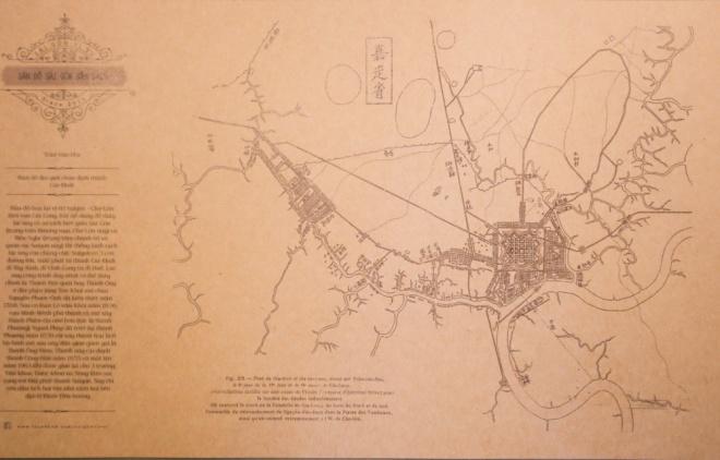 Tấm bản đồ Sài Gòn xưa nhất mà nhóm tìm kiếm được là bản đồ năm 1815 do ông Trần Văn Học vẽ. Lúc này thành Bát Quái vẫn tồn tại. Bản đồ này cho thấy không gian đô thị có hai hạt nhân quan trọng là vùng quận 1 hiện nay và vùng Chợ Lớn. Hai vùng được nối với nhau bằng con rạch Bến Nghé huyết mạch, là con đường lúa gạo từ các tỉnh miền Tây đến cảng Sài Gòn.