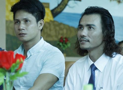 Đạo diễn Cao Thanh Đoan (trái) và diễn viên Đàm Quang Vinh trong buổi casting diễn viên cho phim