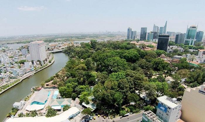 Thảo Cầm Viên Sài Gòn nhìn từ trên cao