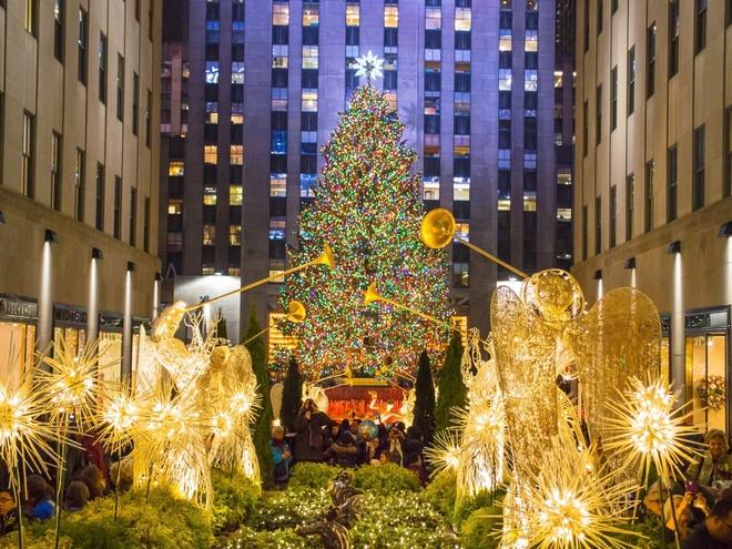 New York, Mỹ Một trong những cây thông Noel nổi tiếng nhất thế giới nằm tại trung tâm Rockefeller với hơn 50.000 chiếc đèn LED. Năm nay, cây thông cao 28 m được lấy từ thành phố Oneonta, phía nam hạt Otsego thuộc bang New York.