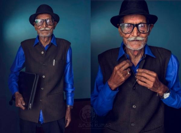 Gile mix cùng sơ mi và chiếc mũ Fedora càng giúp ông cụ trở nên trẻ trung ra cả chục tuổi