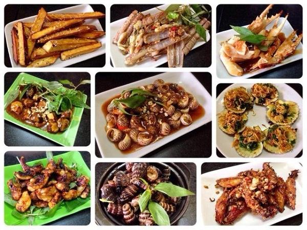 Ốc Sài Gòn: Có thể là ốc hấp, sốt me, xào, luộc nước dừa, ốc là một món ăn rất được ưa chuộng tại Sài Gòn.
