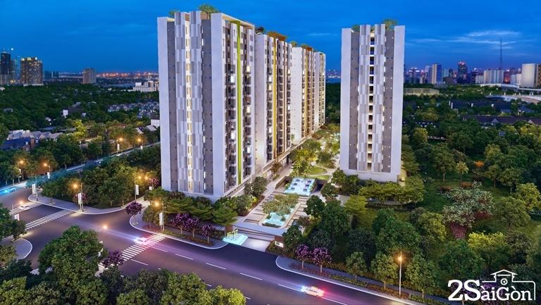 Dự án có quy mô diện tích đất là: 1.8hecta gồm 04 Block cao 17 tầng. Tổng cộng có 1092 căn hộ và tất cả các căn hộ đều có diện tích từ 69-71m2.