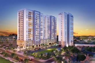Moonlight Park View gồm 03 block 19 tầng với 38 căn office-tel, 34 căn trệt thương mại và 463 căn hộ cùng 2 tầng hầm để xe.