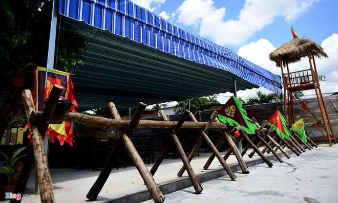 Ngọa Long Trại (Bình Quới, quận Bình Thạnh) được thiết kế lấy ý tưởng từ tác phẩm Tam Quốc Diễn Nghĩa của Trung Quốc. Ảnh: Lê Quân.