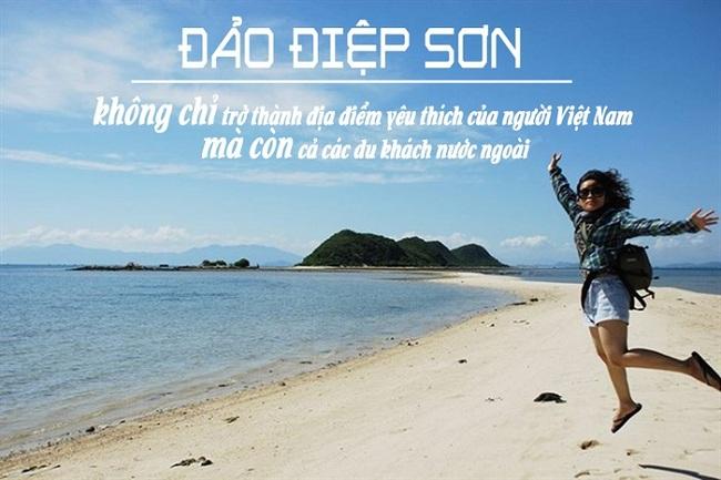 """Điệp Sơn là một dãy gồm 3 hòn đảo nhỏ, nằm chơi vơi trong vùng biển thuộc vịnh Vân Phong, tỉnh Khánh Hòa. Là hòn đảo """"gây sốt"""" trong năm 2016"""