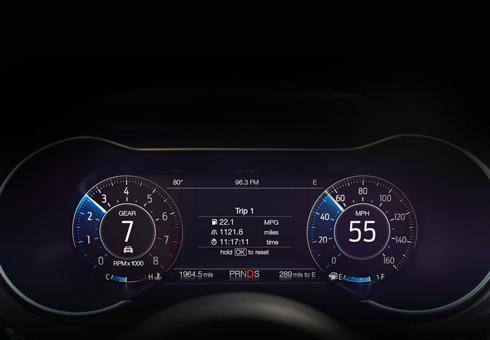 Nâng cấp đáng kể ở đồng hồ tốc độ LCD.