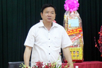 Bí thư Thành ủy Đinh La Thăng phát biểu chỉ đạo tại buổi làm việc. Ảnh: Thiên Ngôn