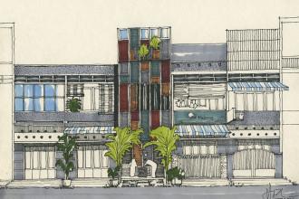 Vốn làm việc trong ngành du lịch, chủ sở hữu đã quyết định biến ngôi nhà diện tích 60m2 đã có tuổi thọ 50 năm của mình thành một địa chỉ văn hóa mới cho người Sài Gòn.