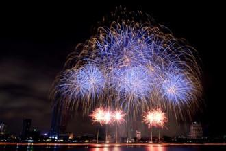 Một màn trình diễn pháo hoa ở Đà Nẵng năm 2015. Ảnh: Lê Hiếu.