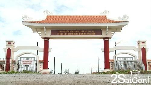 Khu bảo tồn, tôn tạo và phát huy giá trị di tích lịch sử đường Hồ Chí Minh trên biển - Ảnh: Chu Phương