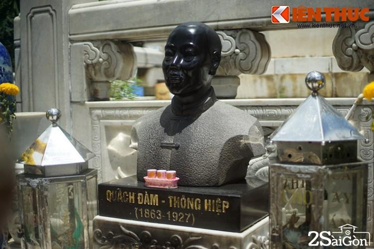 Ông Quách Đàm đã qua đời lúc chợ chưa xây xong. Khi chợ Bình Tây khánh thành năm 1928, khu đài thờ của ông đã được hoàn tất theo ý nguyện.